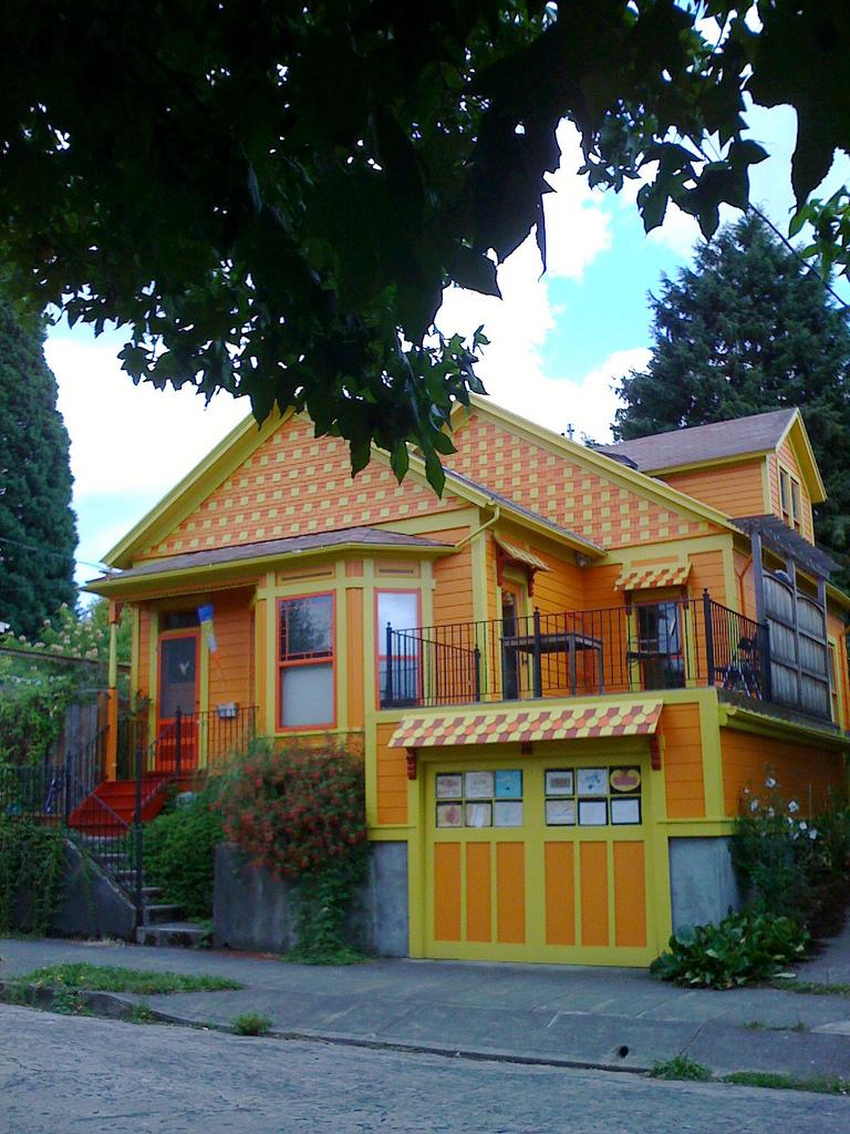 Portland colorful home real estate sale Oregon