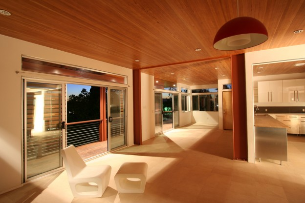 Ceiling Douglas Fir wood in POrtland home stylish modern