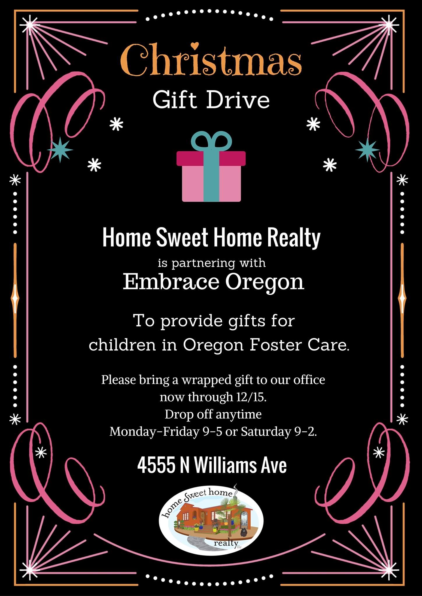 Christmas Gift Drive Details Portland
