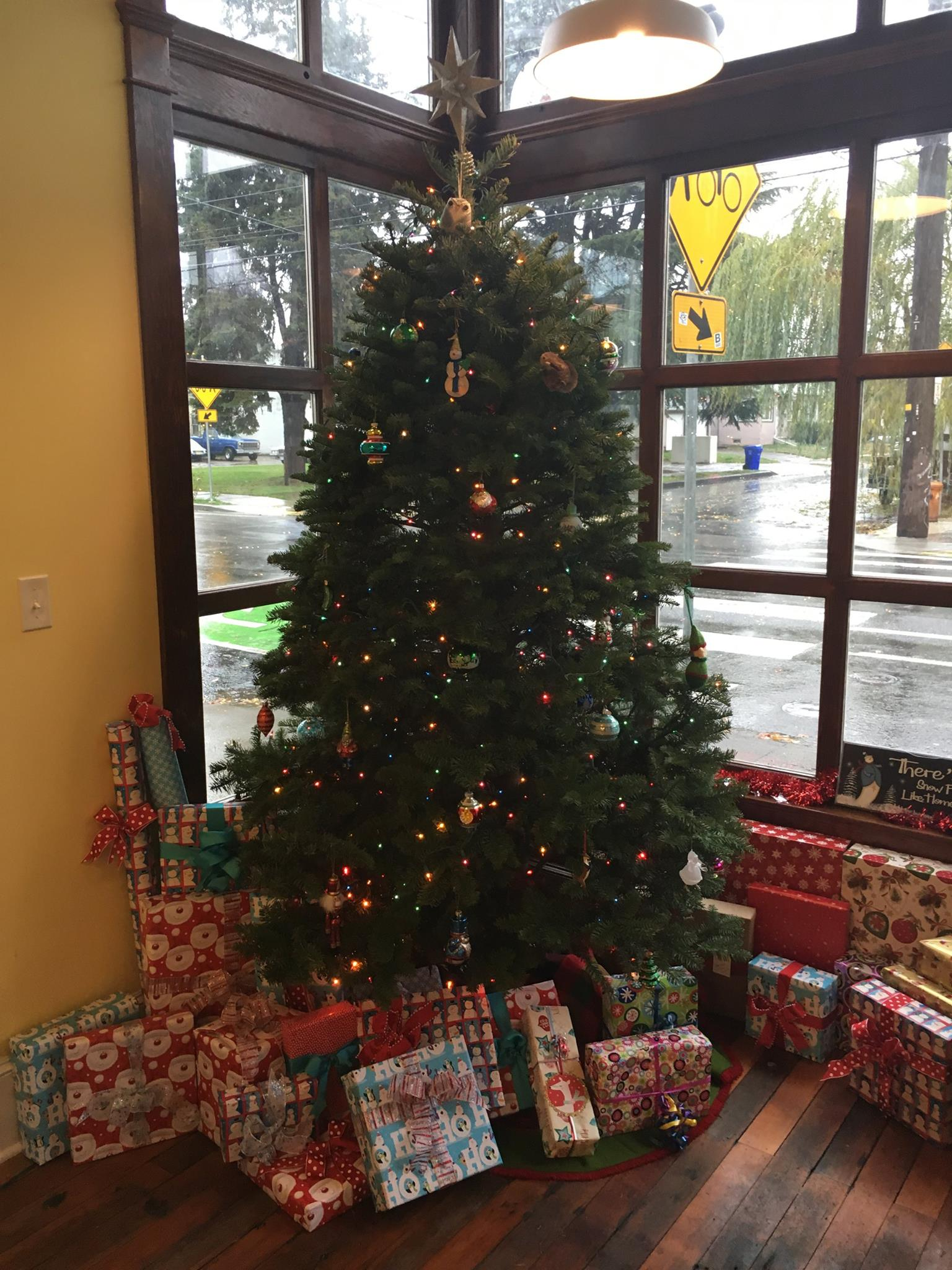 Christmas Tree Gift Drive at Home Sweet Home Realty Portland Oregon