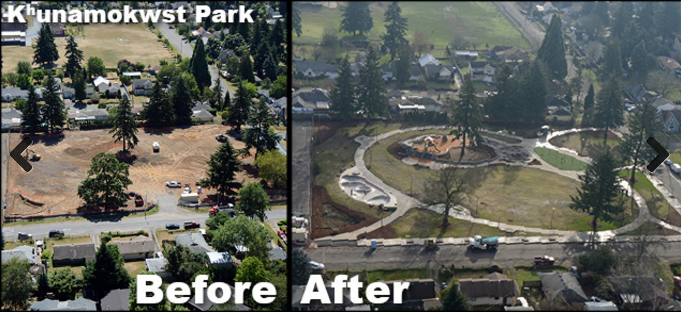 Neighbors in Cully fight for more parkland. Khunamokwst Park celebrated its grand opening on May 16th, 2015. - Portland