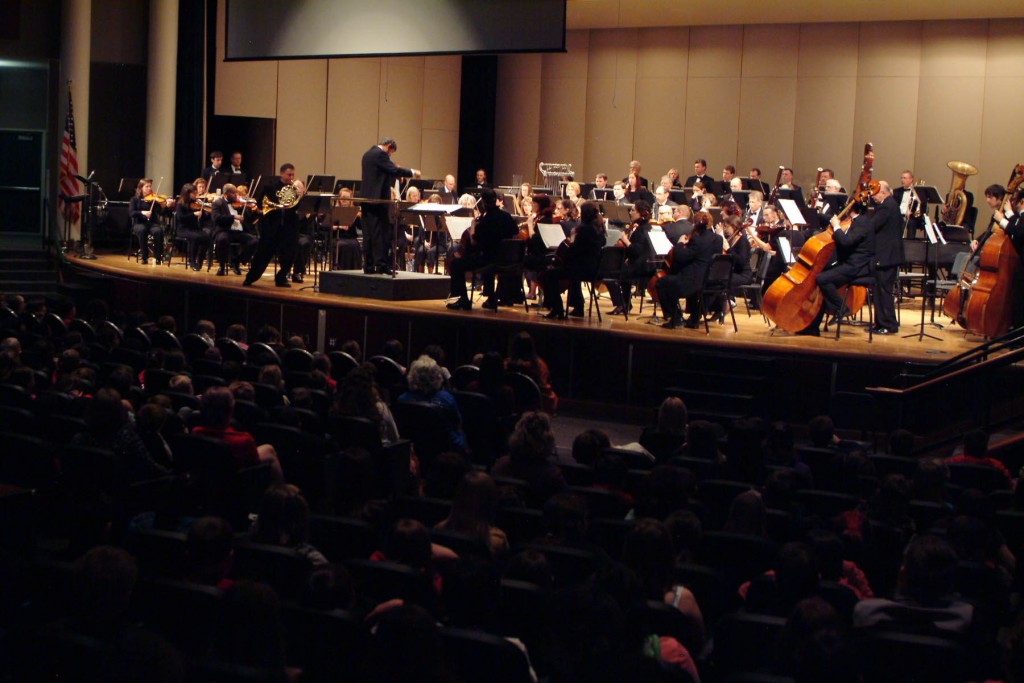 The Vancouver Symphony Orchestra is a city-wide treasure. Here they celebrate classical music with a concert for the Chinook Elementary School students. Image Courtesy of Visit Vancouver USA.